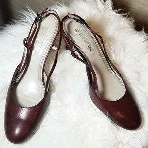 Unisa brown leather slingback pumps sz. 7 1/2B